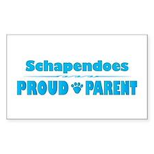 Schapendoes Parent Rectangle Decal