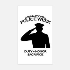 Police Week 4 Rectangle Decal