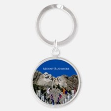 Mount Rushmore Customizable Souveni Round Keychain