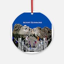 Mount Rushmore Customizable Souve Ornament (Round)