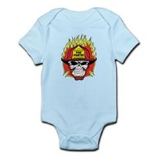 Firefighter Skull Infant Bodysuit