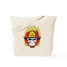Firefighter Skull Tote Bag