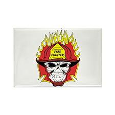 Firefighter Skull Rectangle Magnet (100 pack)