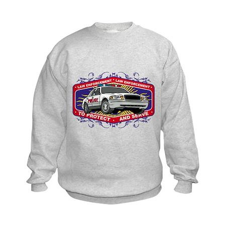 Law Enforcement Patrol Car Kids Sweatshirt