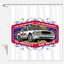 Law Enforcement Patrol Car Shower Curtain