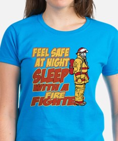Feel Safe at Night Firefighte Tee