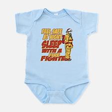 Feel Safe at Night Firefighter Infant Bodysuit