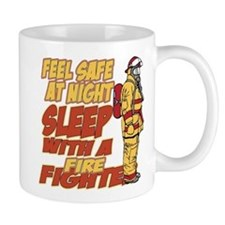 Feel Safe at Night Firefighter Mug