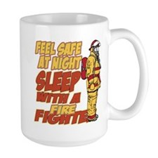 Feel Safe at Night Firefighter Mug