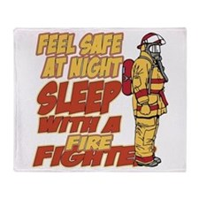 Feel Safe at Night Firefighter Throw Blanket