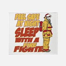 Feel Safe at Night Firefighter Throw Blanket