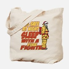Feel Safe at Night Firefighter Tote Bag
