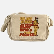 Feel Safe at Night Firefighter Messenger Bag