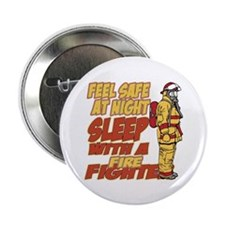 """Feel Safe at Night Firefigh 2.25"""" Button (10 pack)"""