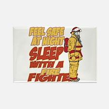 Feel Safe at Night Firefighter Rectangle Magnet