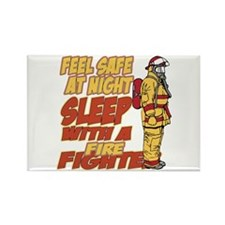 Feel Safe at Night Fir Rectangle Magnet (100 pack)