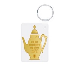 cup of tea Keychains