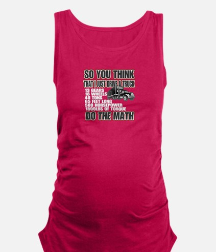 Trucker Do The Math Maternity Tank Top