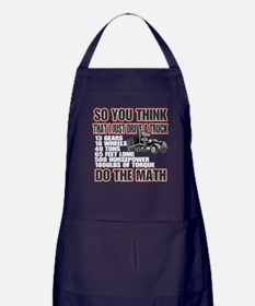 Trucker Do The Math Apron (dark)