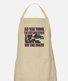 Trucker Do The Math Apron