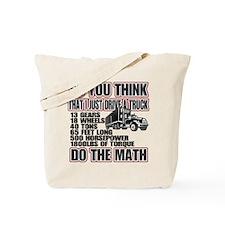 Trucker Do The Math Tote Bag