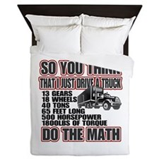 Trucker Do The Math Queen Duvet