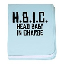 HBIC Head Baby In Charge baby blanket