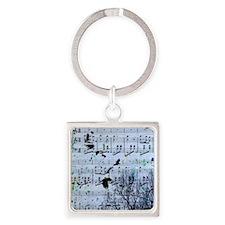 Blackbirds Melody Square Keychain