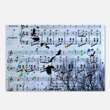 Blackbirds Melody Postcards (Package of 8)