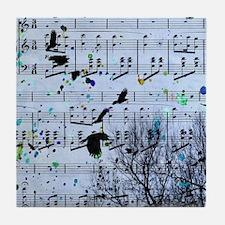 Blackbirds Melody Tile Coaster