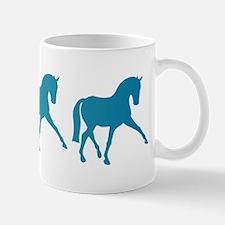 Dressage Horse Sidepass Blue Ombre Mug