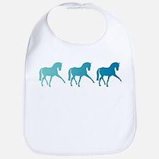 Dressage Horse Sidepass Blue Ombre Bib