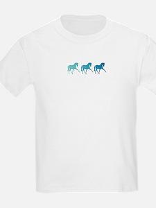 Dressage Horse Sidepass Blue Om T-Shirt