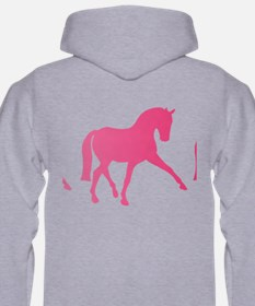 Dressage Horse Sidepass Blue Omb Hoodie