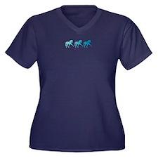 Dressage Hor Women's Plus Size V-Neck Dark T-Shirt