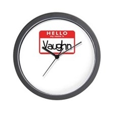 Hello Vaughn Wall Clock