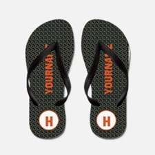 Custom Monogram Pattern Flip Flops