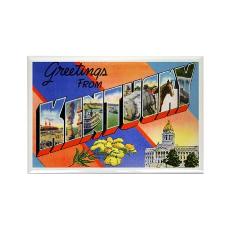 Kentucky Greetings Rectangle Magnet (10 pack)