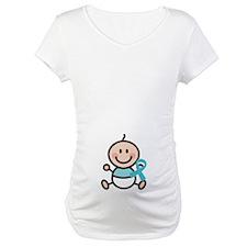 Turquoise Awareness Ribbon baby Shirt