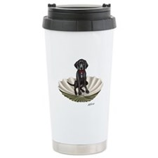 Lab pup in a clam shell Travel Mug