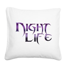 Night Life Square Canvas Pillow