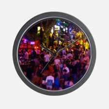 Ayia Napa by night Wall Clock