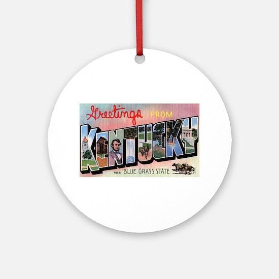 Kentucky Greetings Ornament (Round)