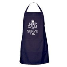 Keep Calm and Serve On Apron (dark)