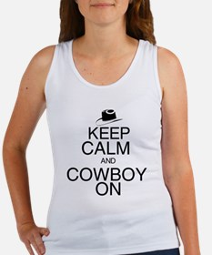 Keep Calm and Cowboy On Women's Tank Top