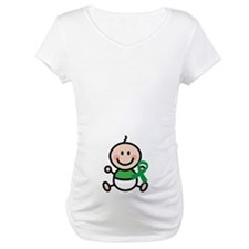Green Awareness Ribbon baby Shirt