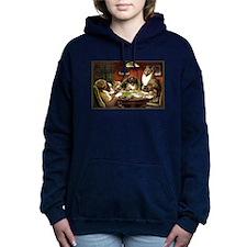Waterloo Dog Poker Women's Hooded Sweatshirt