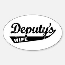 Vintage Deputys Wife Oval Decal