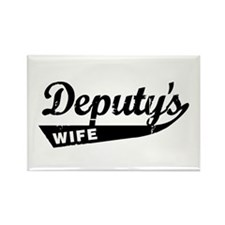 Vintage Deputys Wife Rectangle Magnet