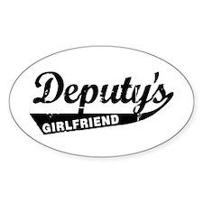 Vintage Deputys Girlfriend Oval Decal
